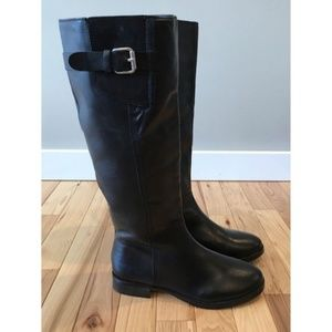 INC Coco Leather Black Boots 7M New In Box
